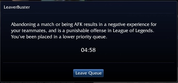 Soooo Tired of Queue Dodge Timer when its Leagues Fault!!!!!