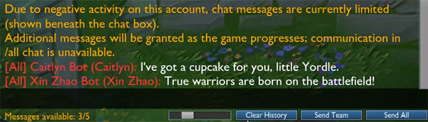 Chat Restrictions FAQ - GARENA LOL SUPPORT
