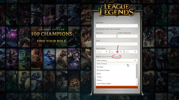 League of Legends Servers – Riot Games Support