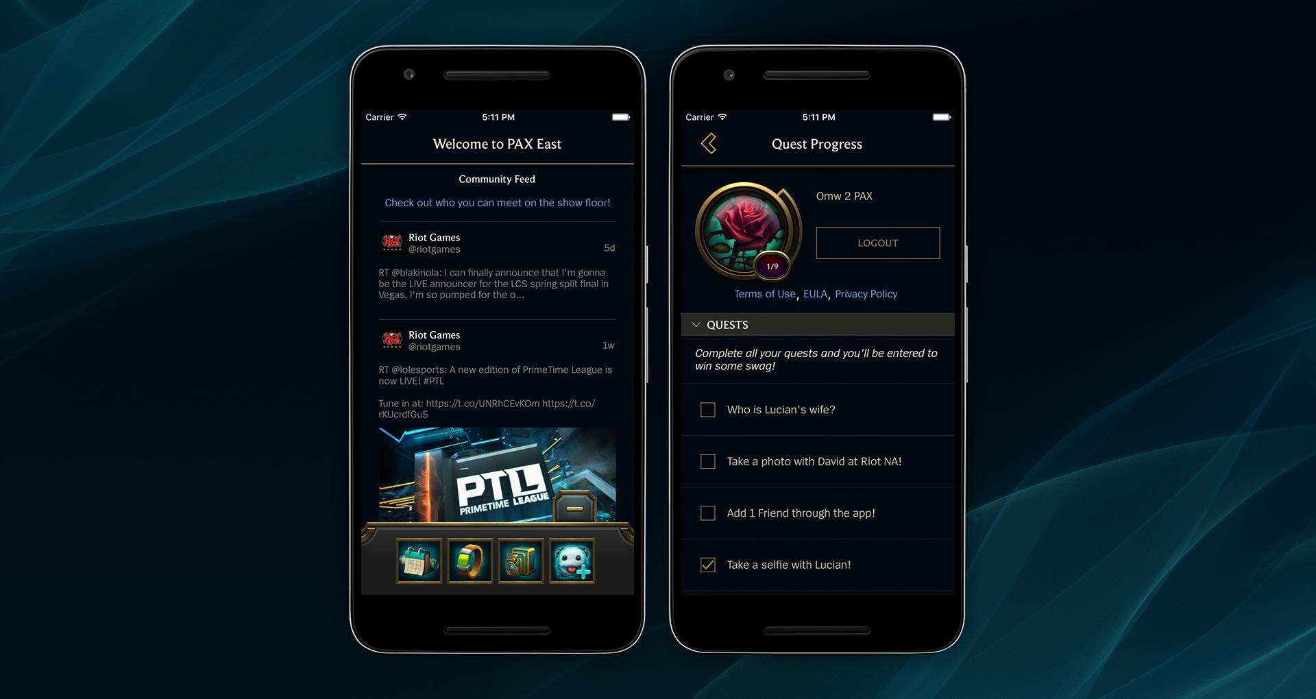 ligg app events
